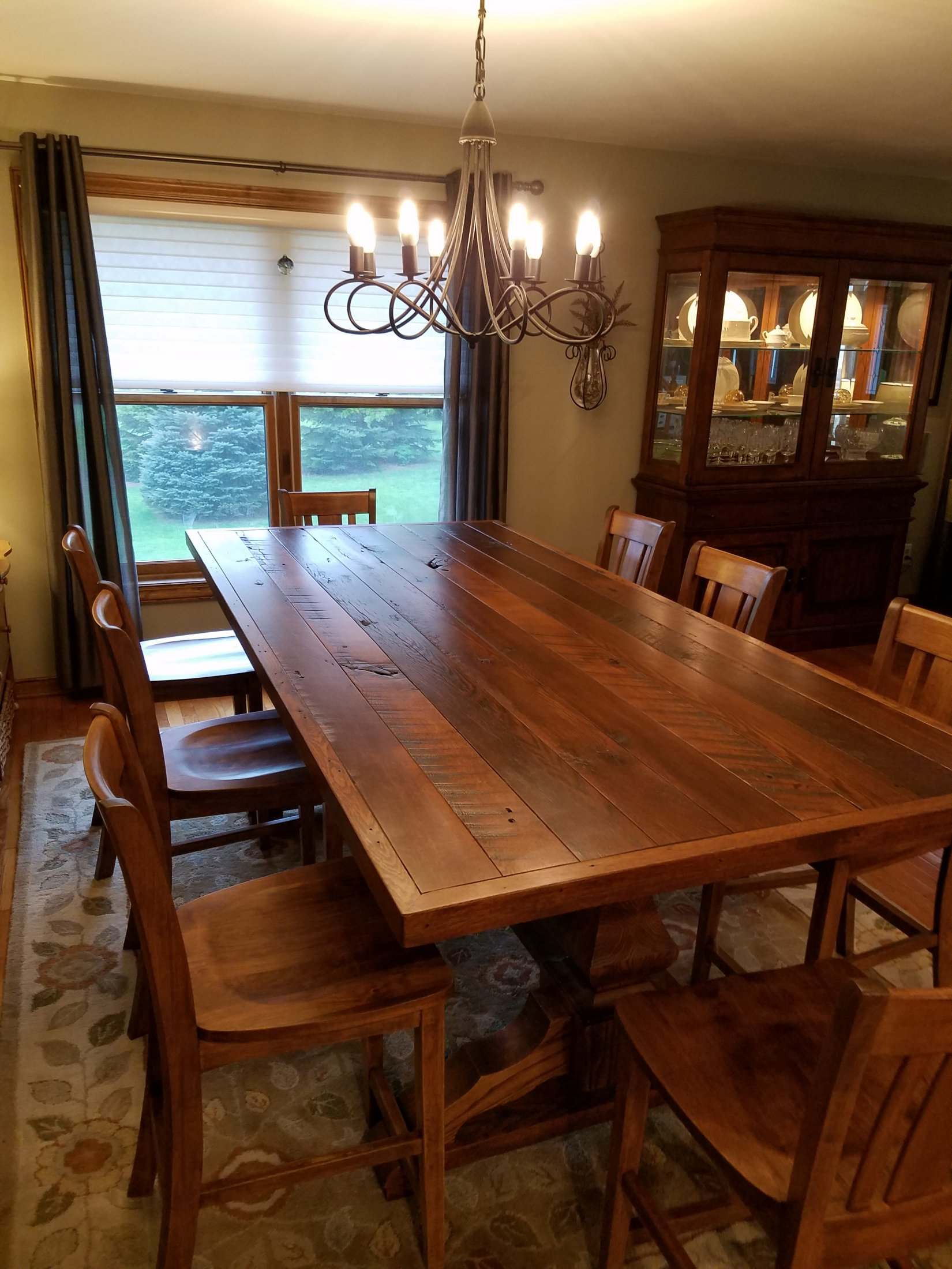 Reclaimed Rustic Oak Table & Chairs