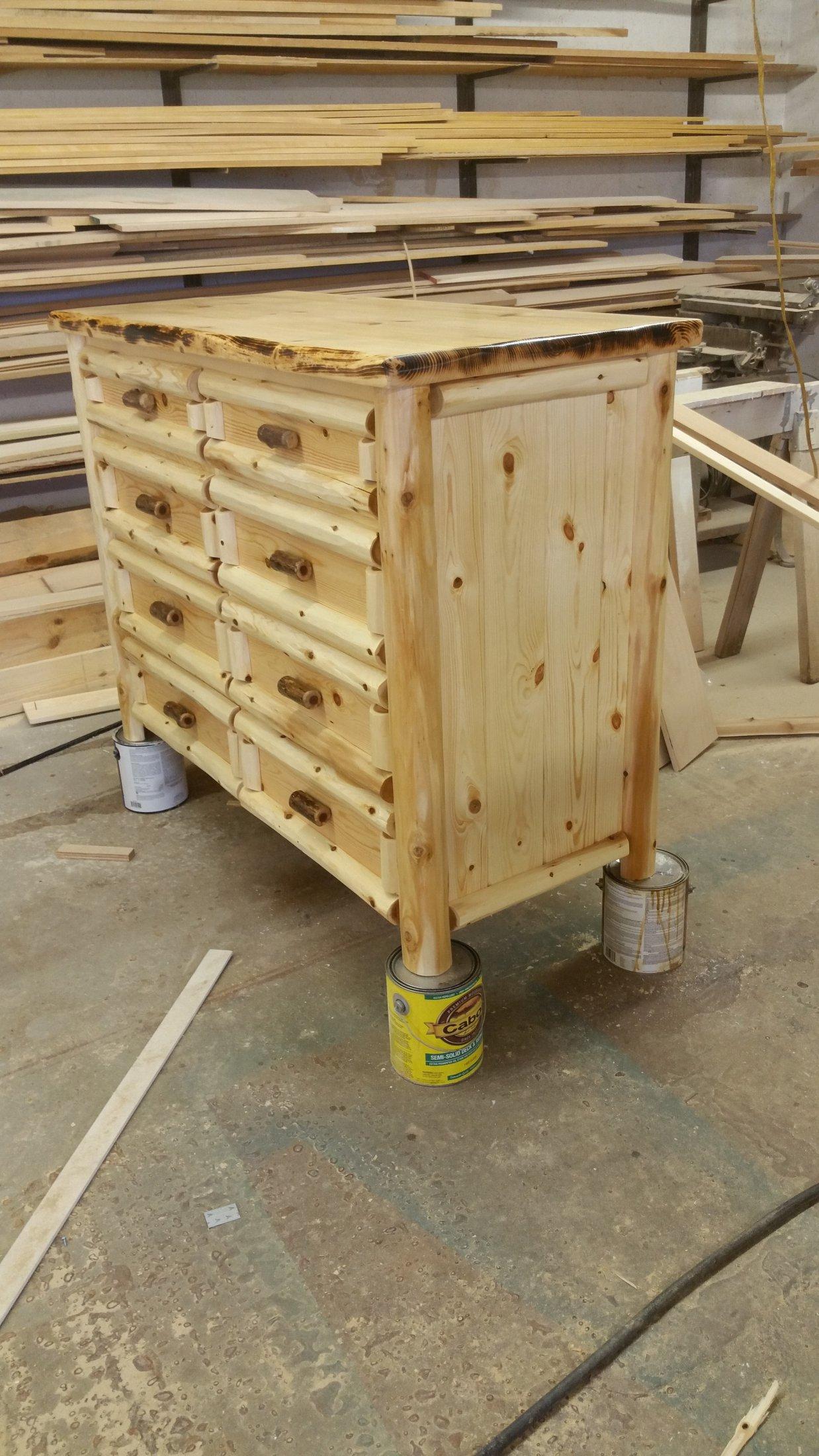 8 Drawer Custom Log Dresser