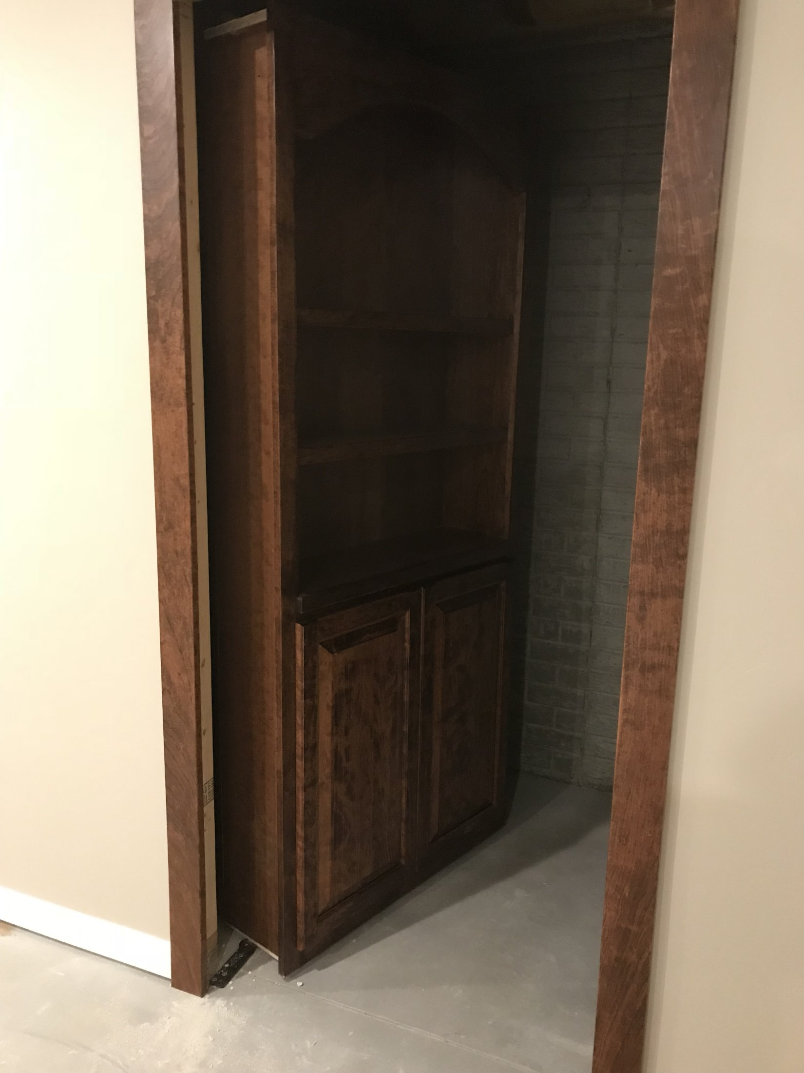 Cherry Arched Bookcase