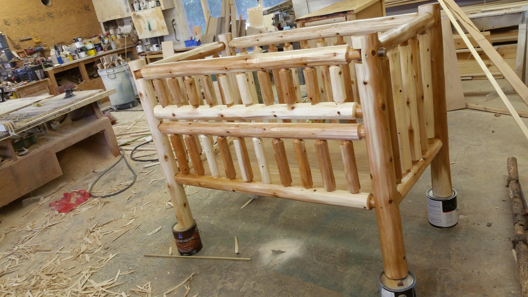 Custom made Log Crib