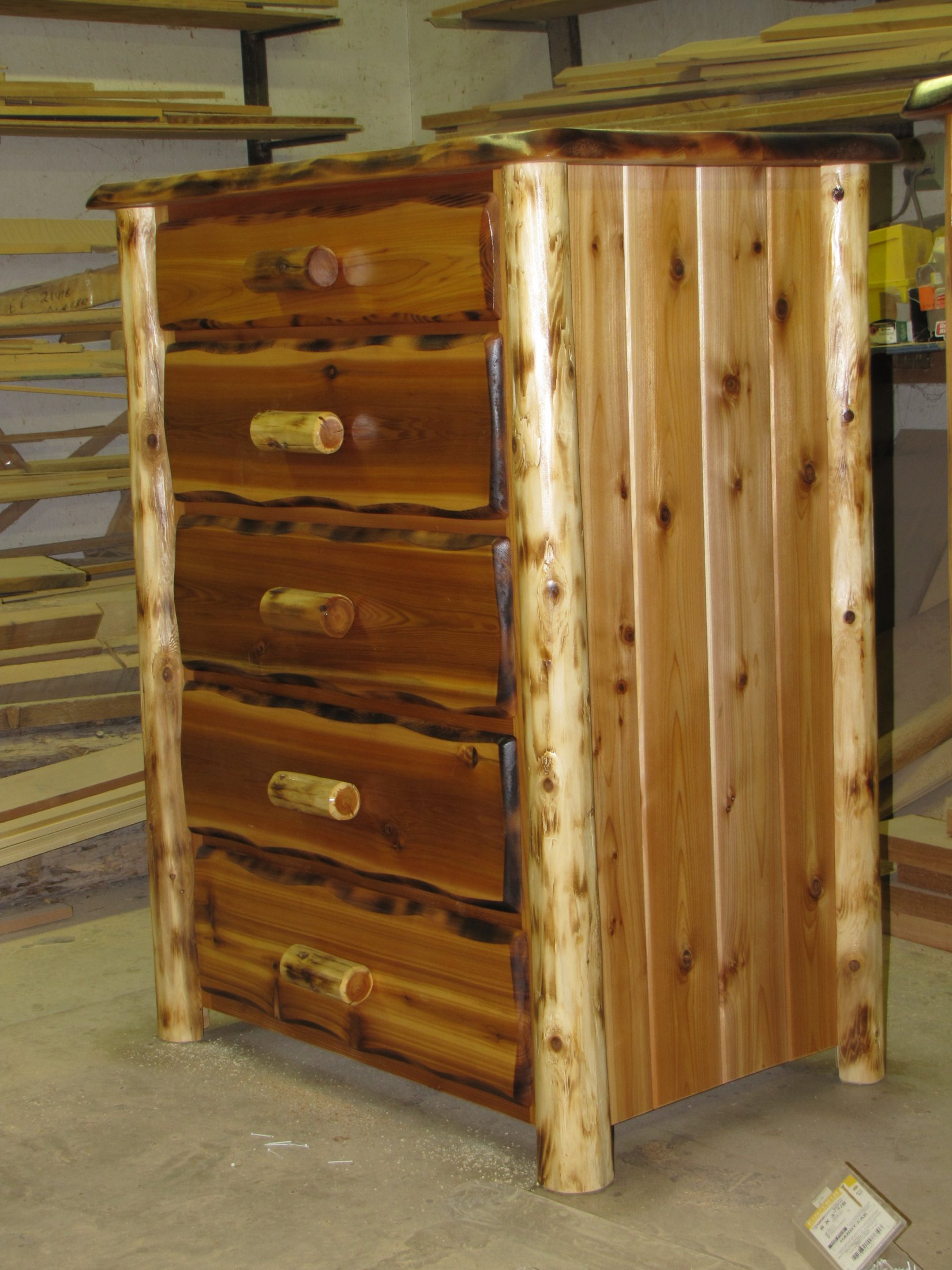 Custom Made Red Cedar Dresser