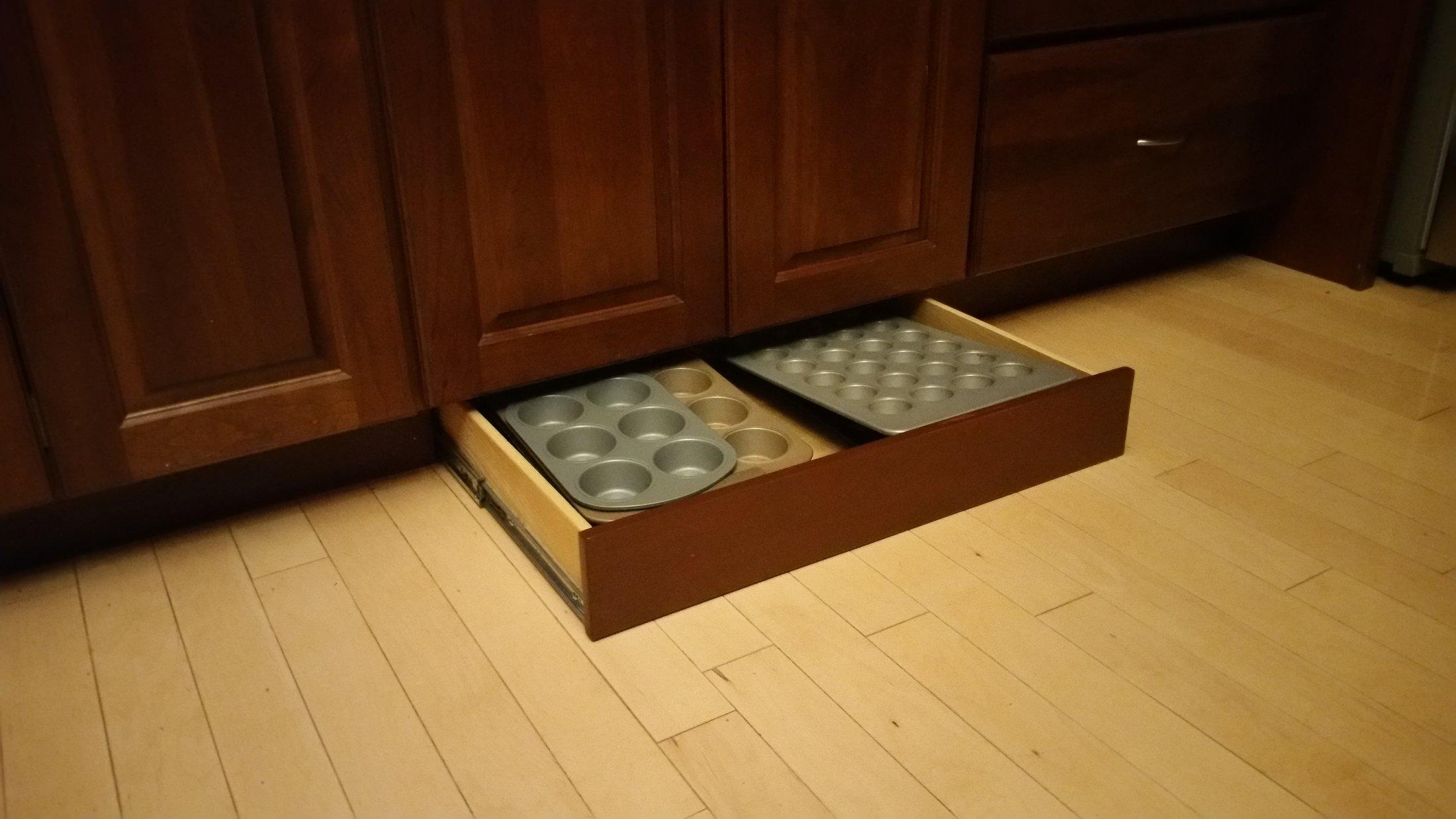 Custom built Under Cabinet Drawer