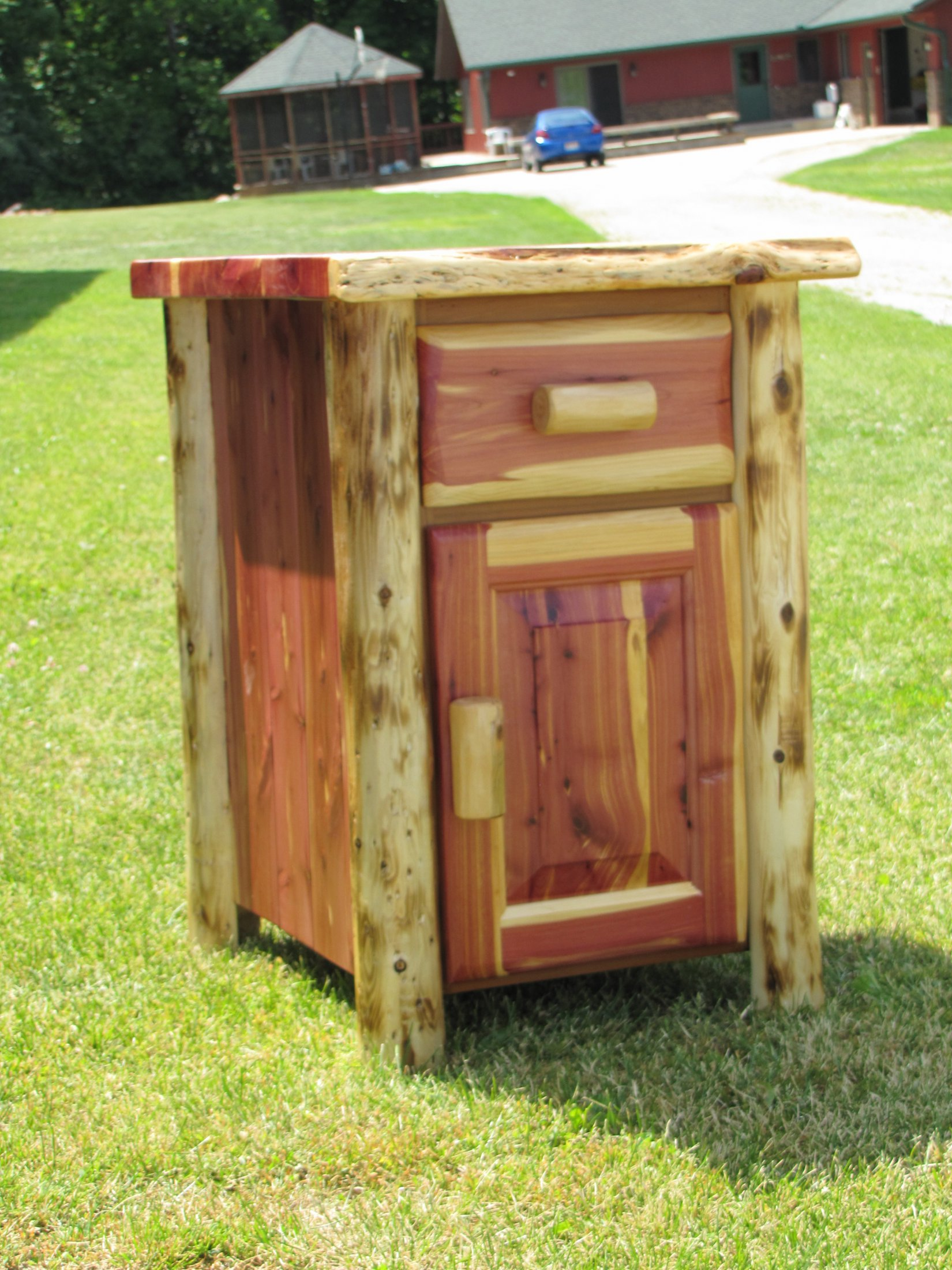 Custom Made Red Cedar Nightstand