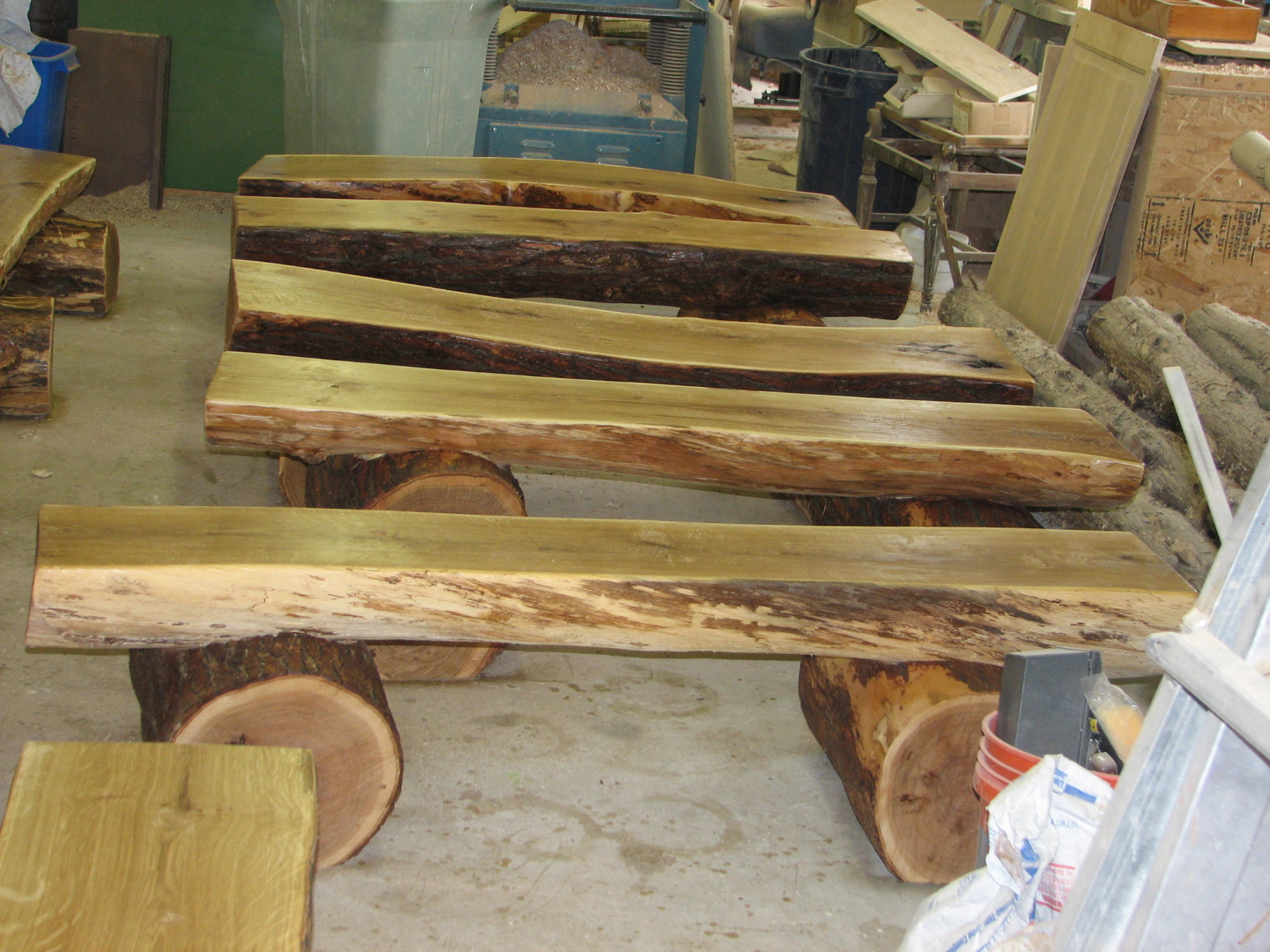 Custom Made Log Benches