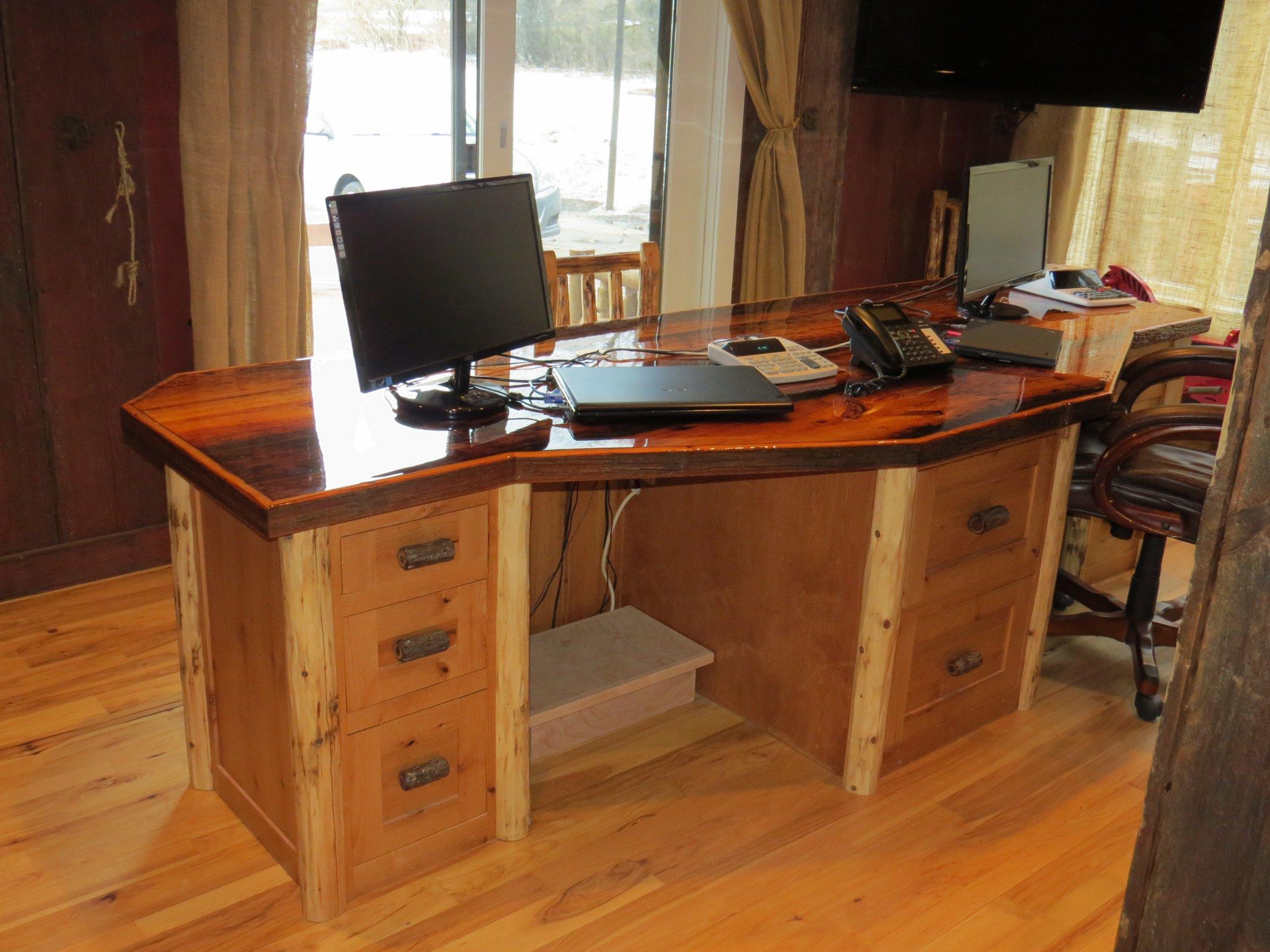 Rustic Alder Custom Desk