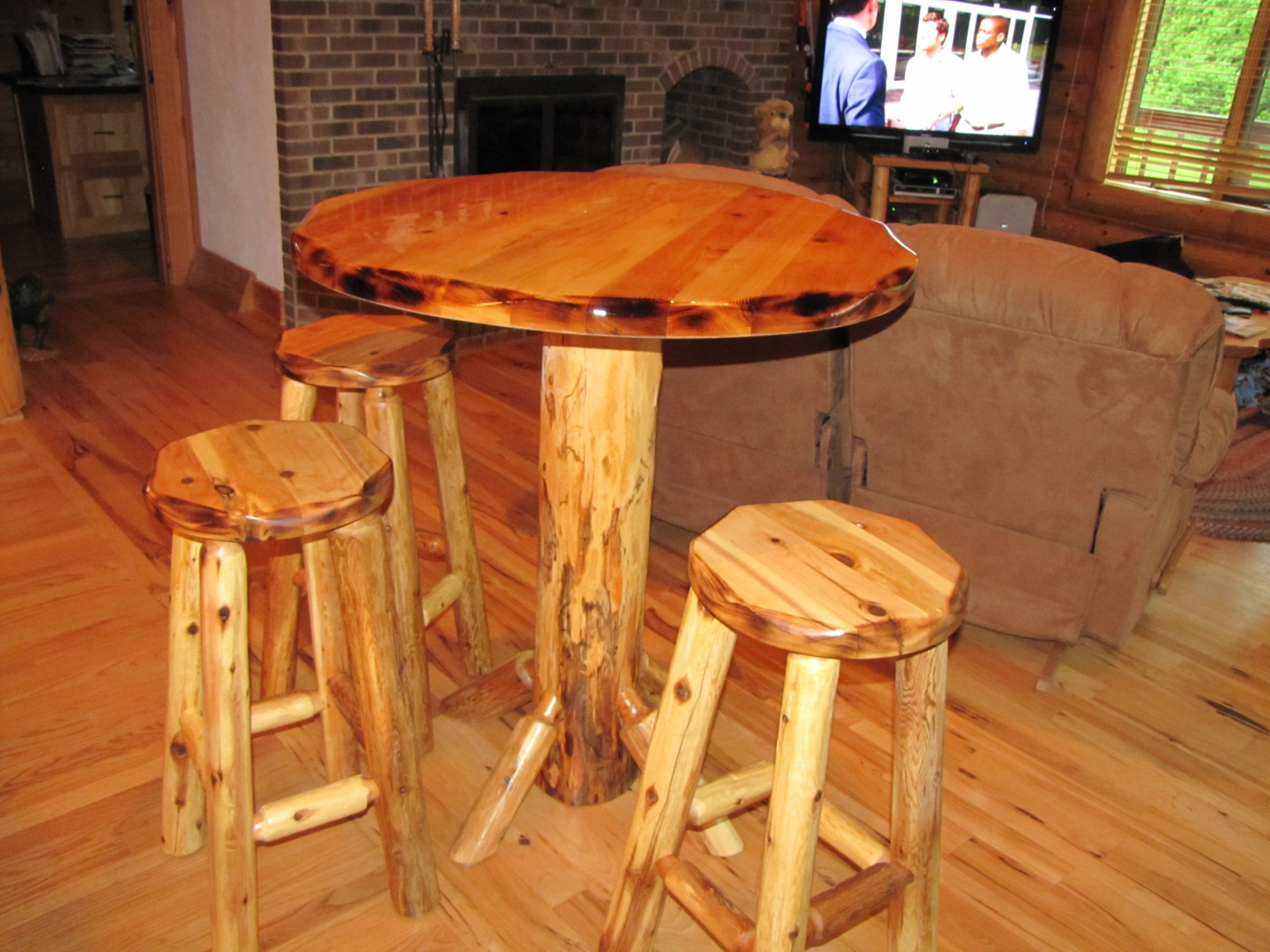 Custom Made Pub table and Stools