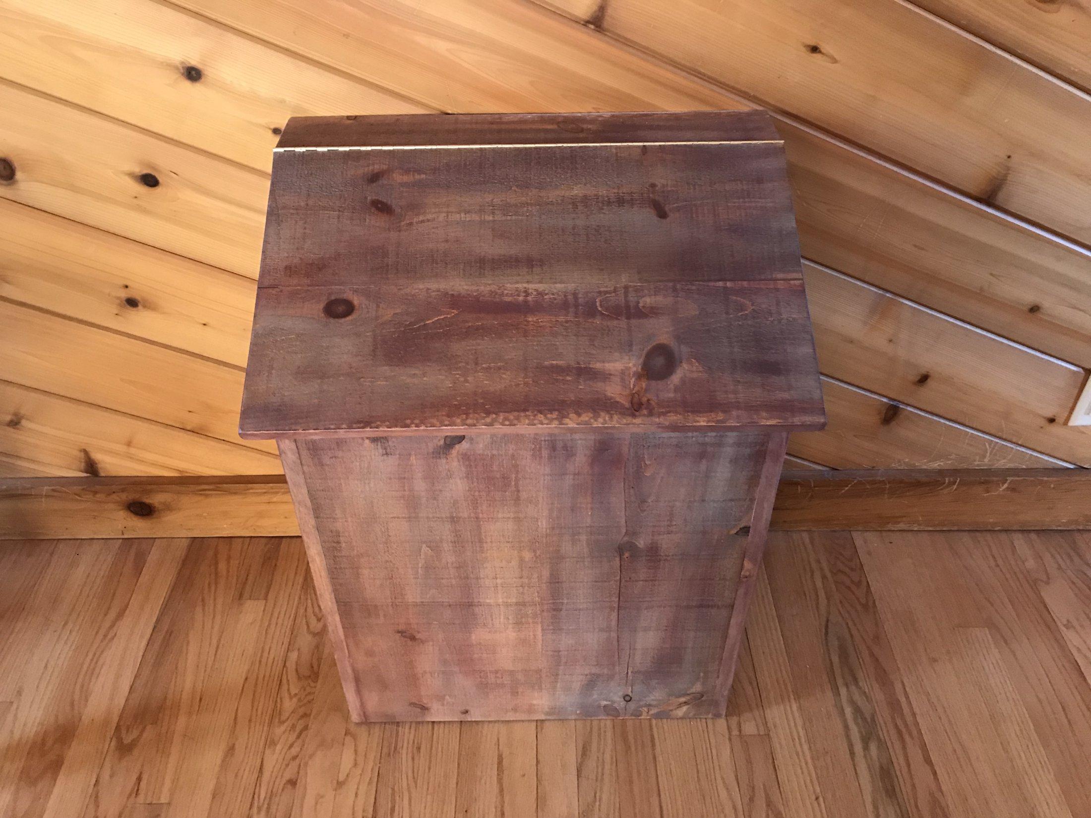 Rustic Barn Wood Pet Food Storage & Feeder