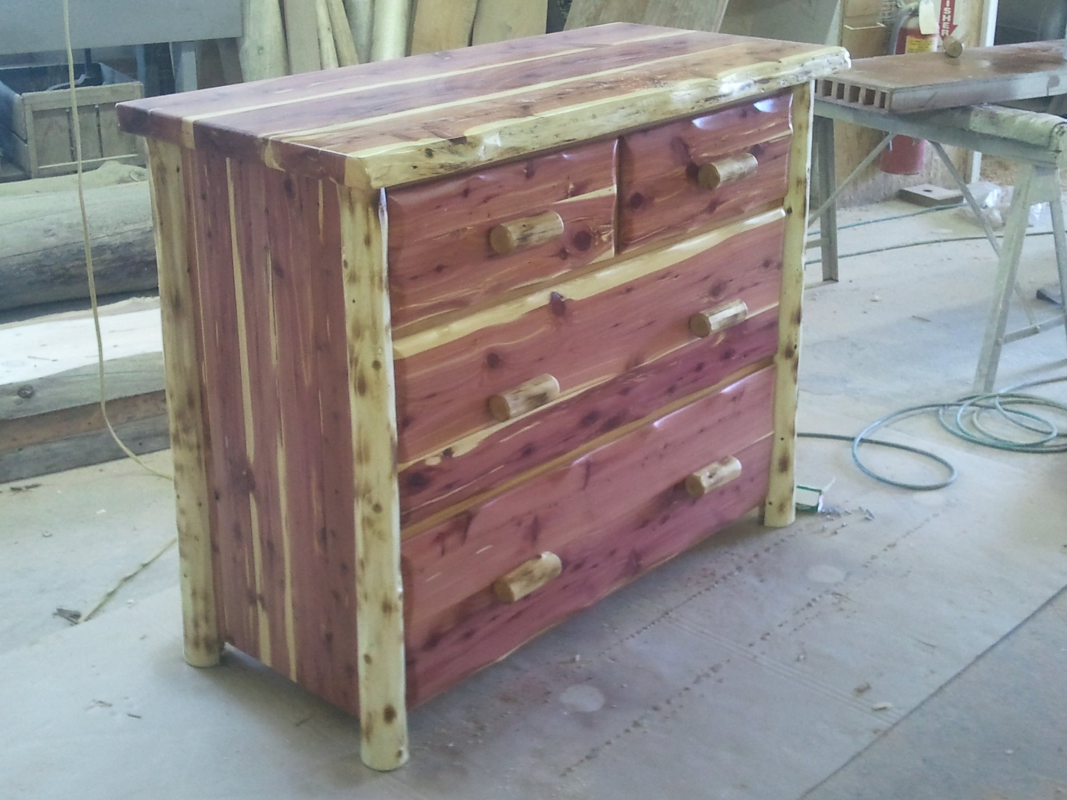 Rustic Red Cedar 4 Drawer Dresser
