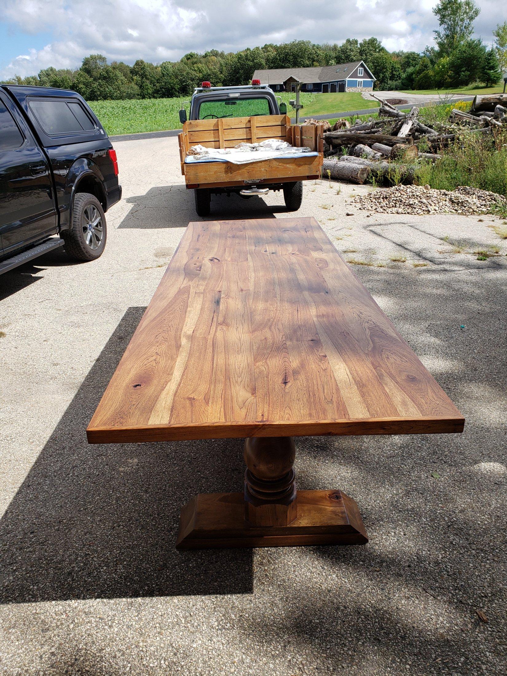 Custom built Hickory Table