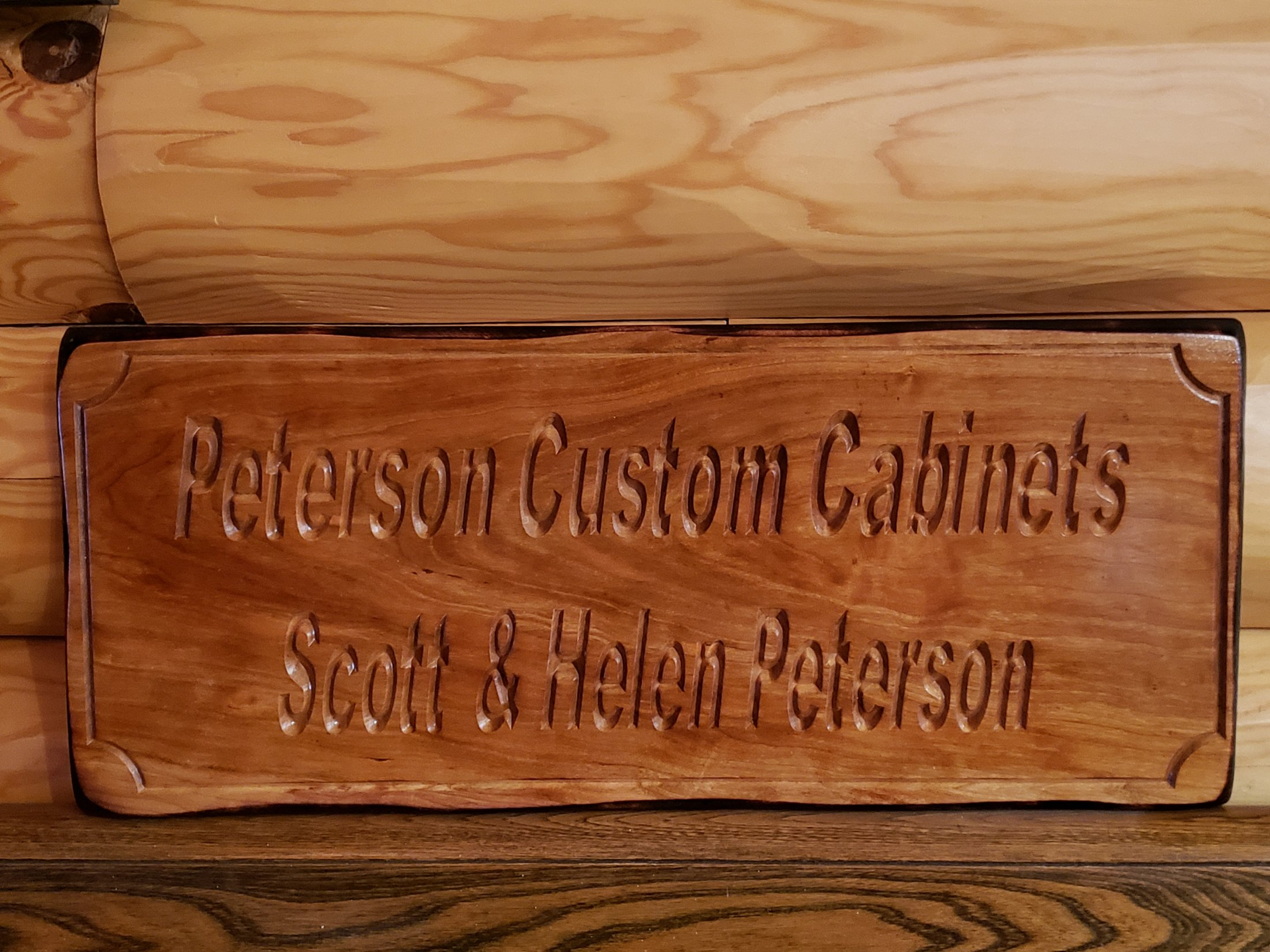 Custom Carved Cherry