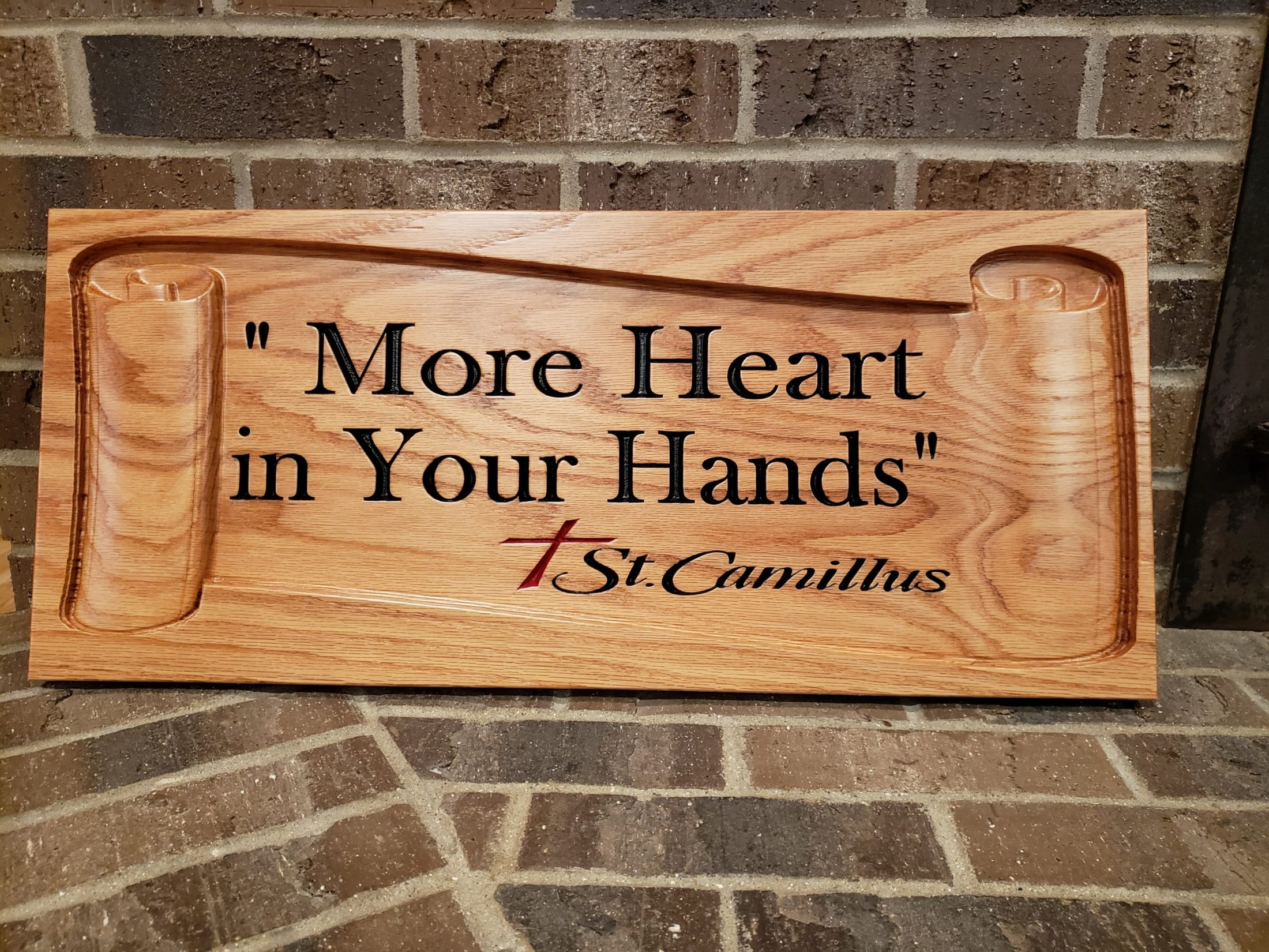 Custom Oak Wood Carving