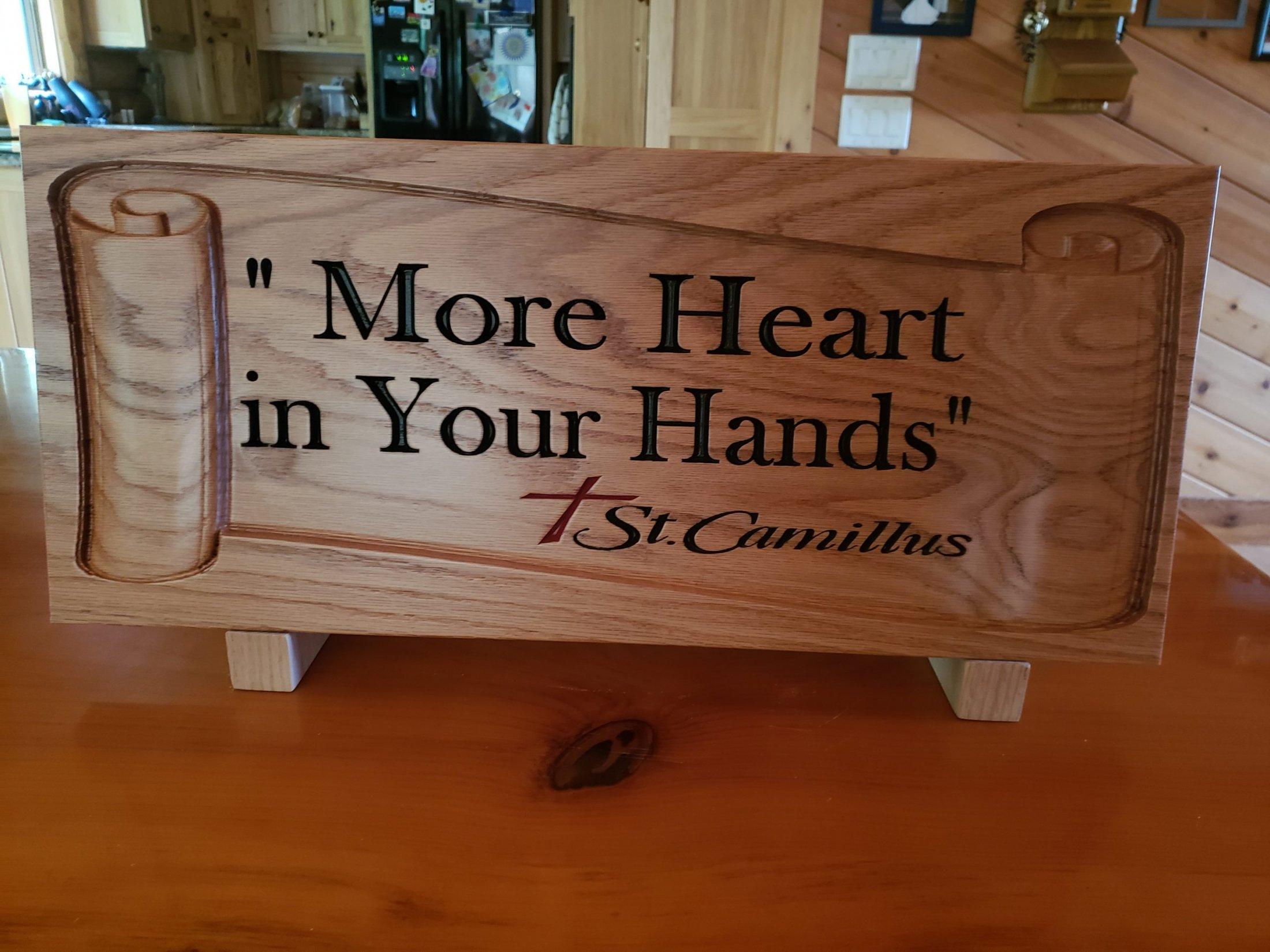 Custom Designed Oak Wood Carving