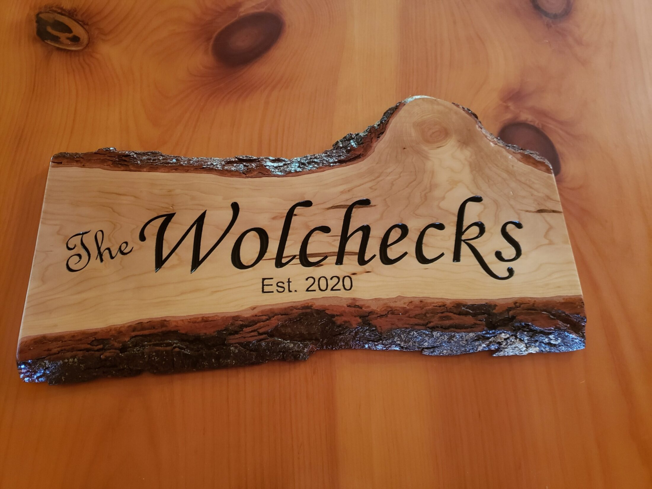 Custom Made Cherry Sign Carved and Painted