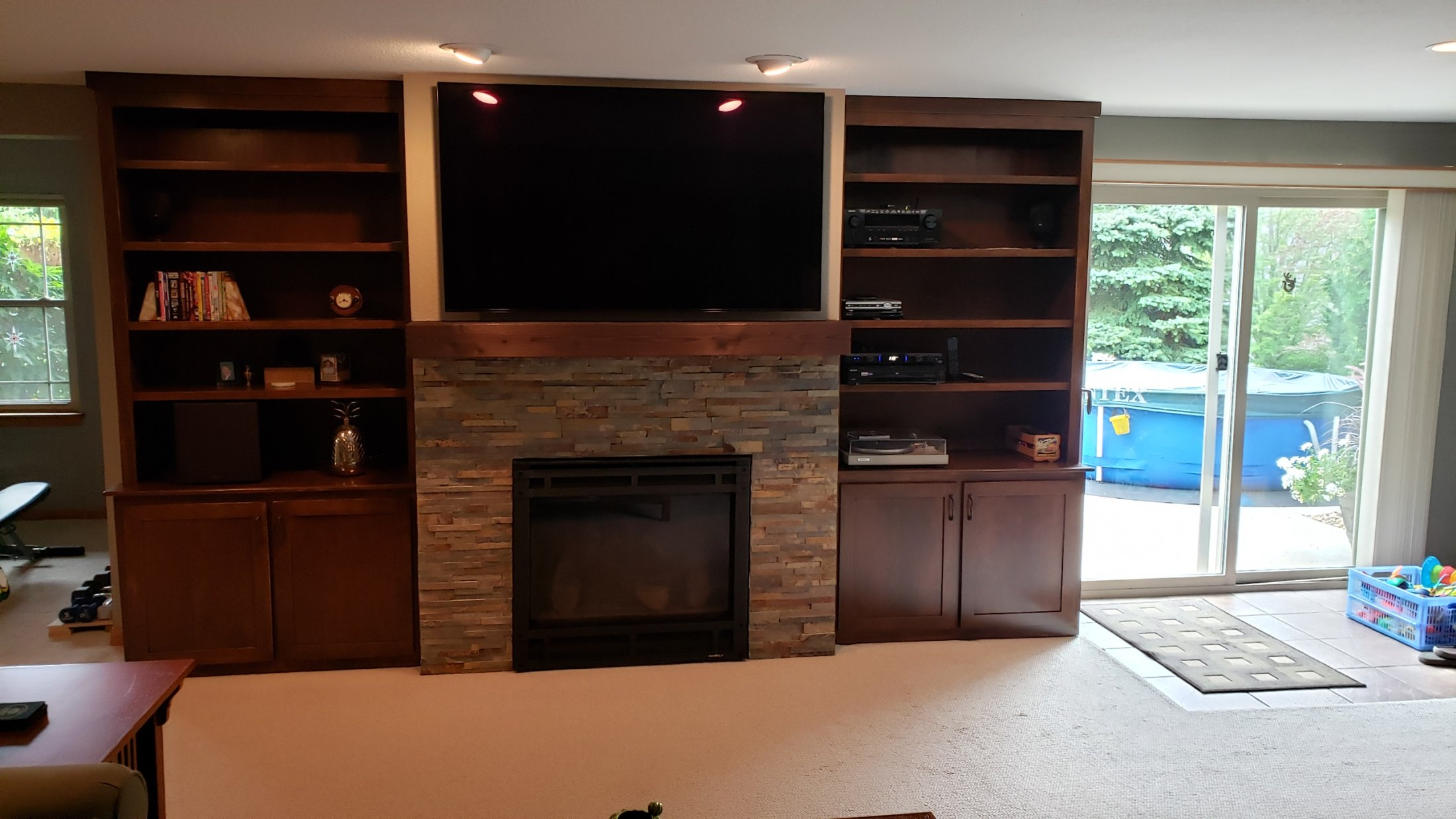 Custom Maple Bookcases and Cabinets