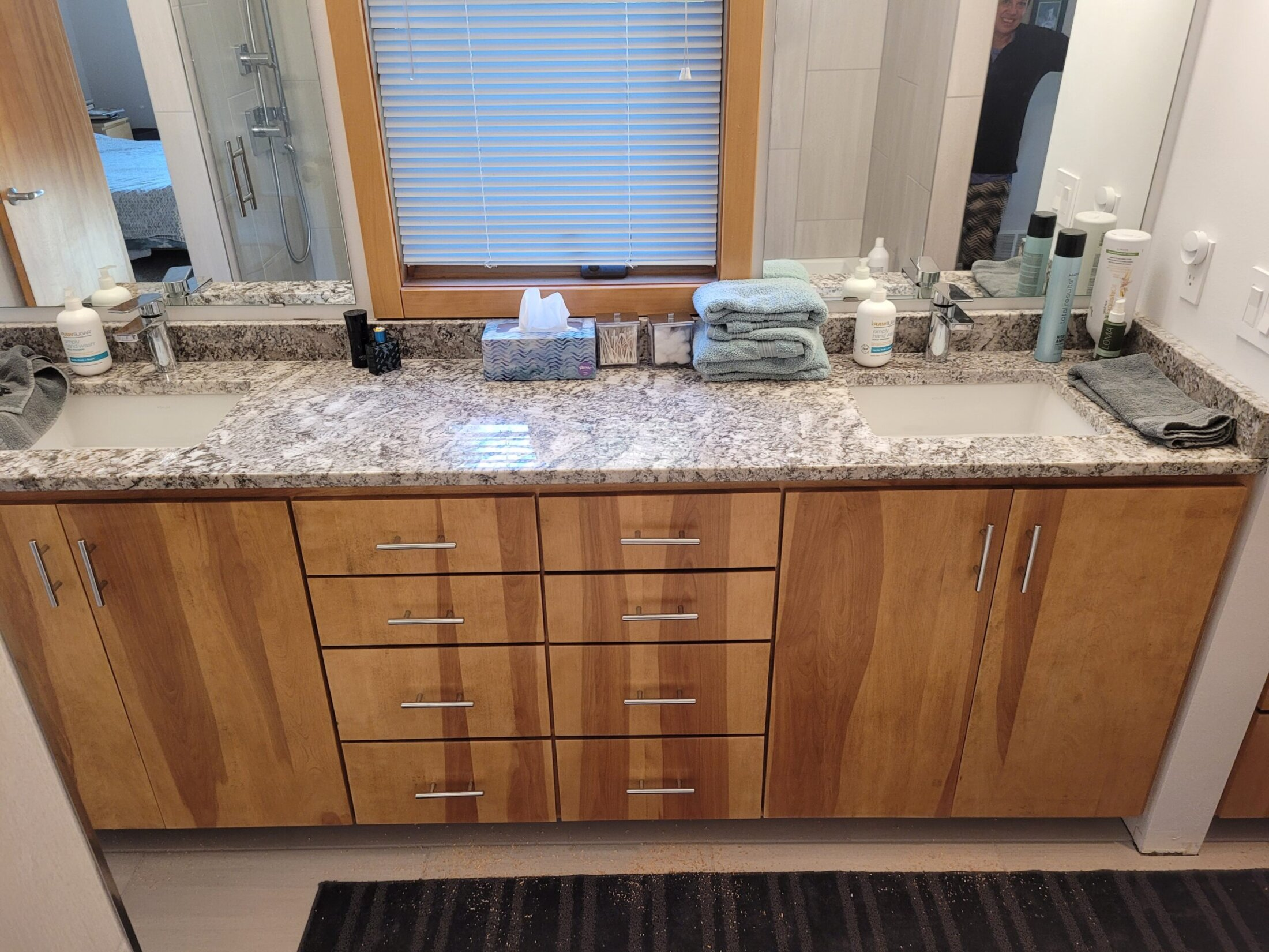 Custom Built Birch Bathroom Vanity