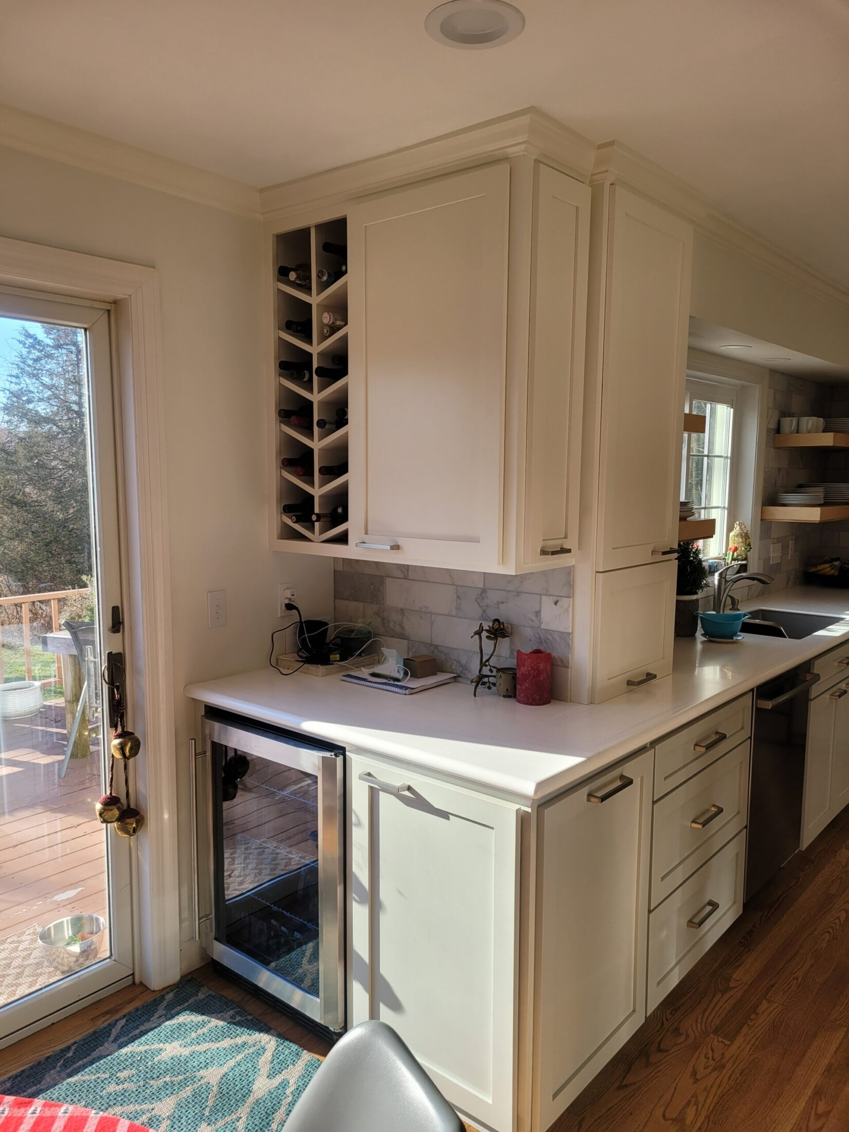 Custom Maple Wine Cabinet and Maple Cabinets