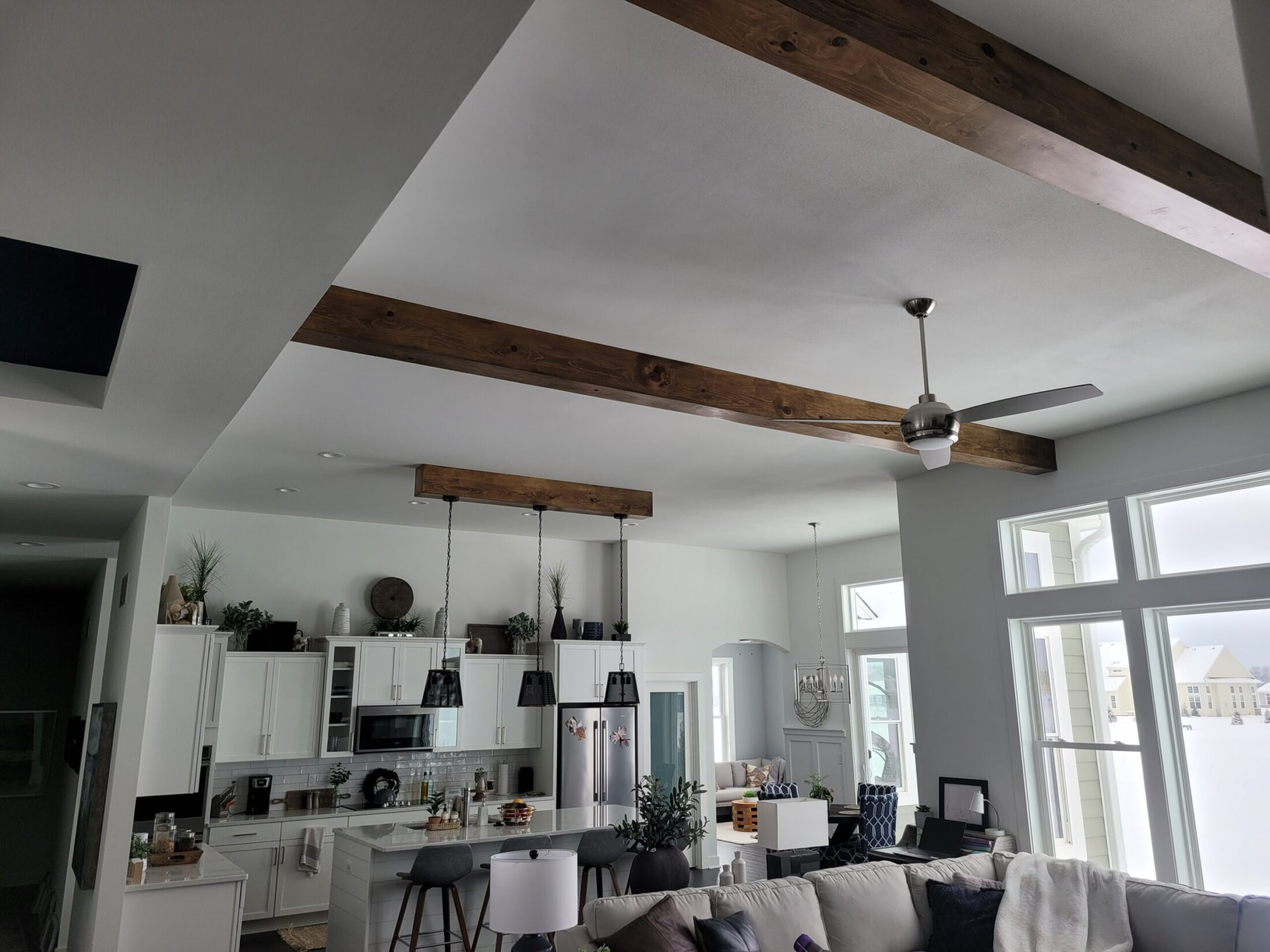 Knotty Pine Ceiling Beams- Custom Made