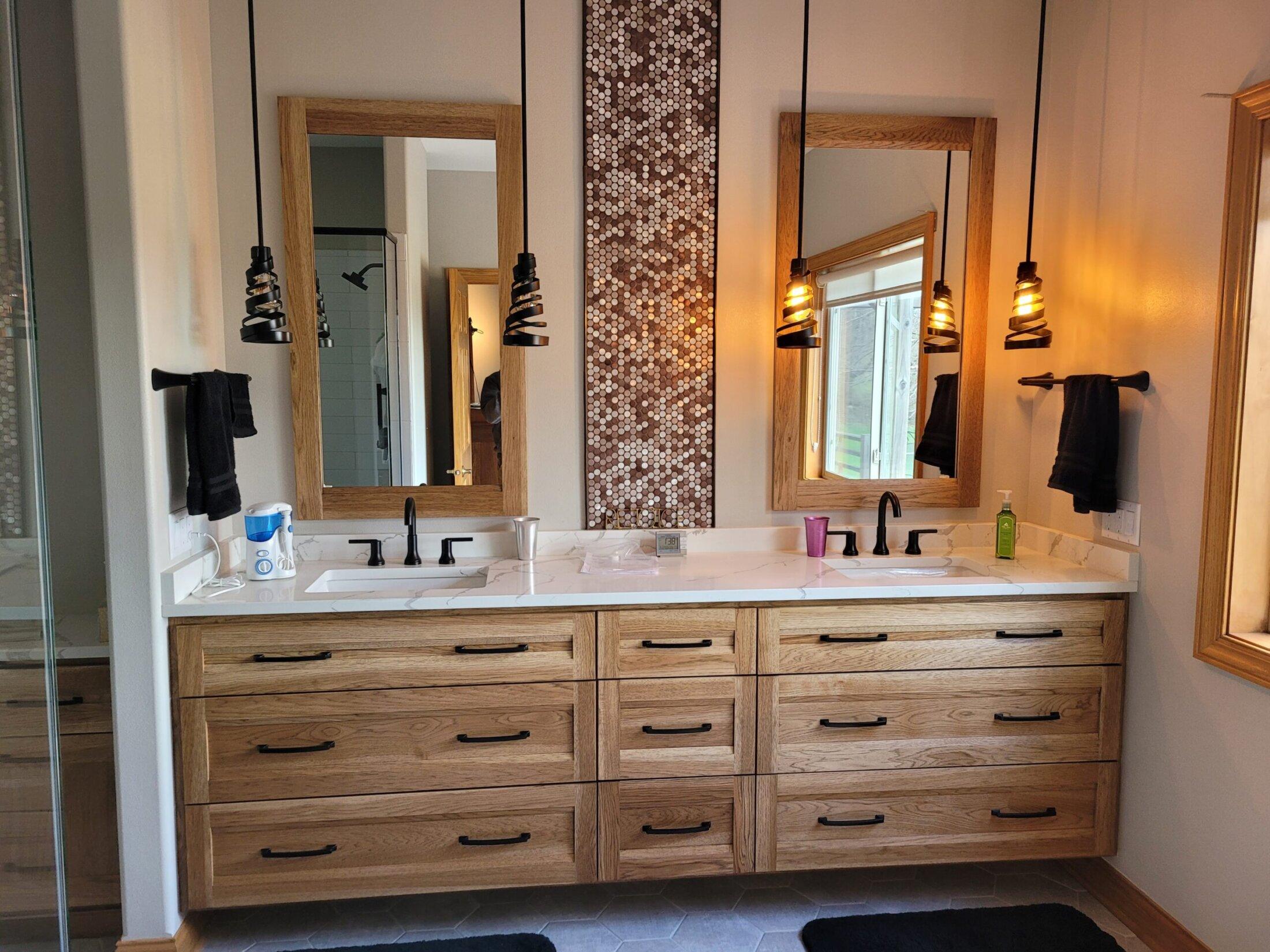 Hickory Bathroom Cabinet