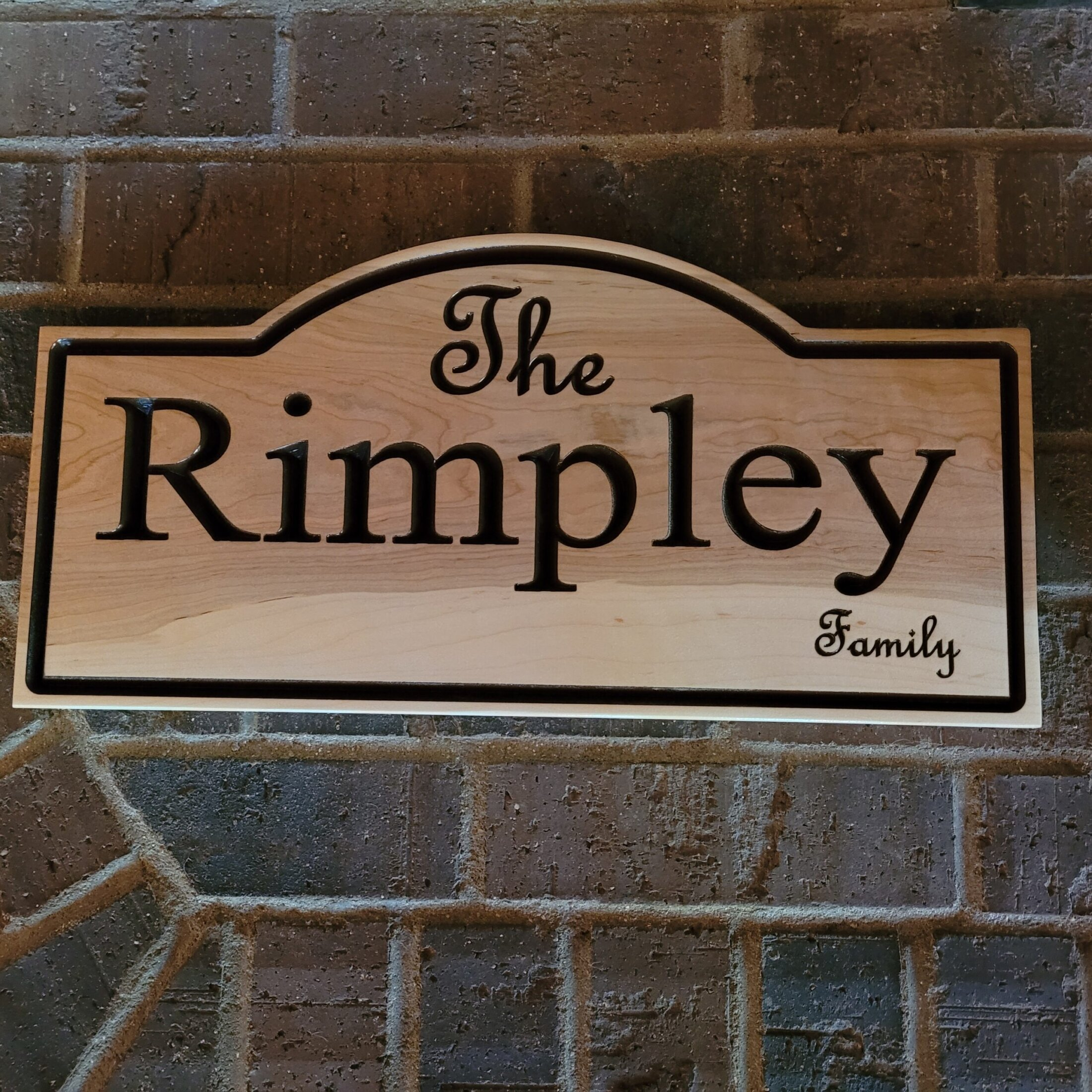 Custom Maple Carved Sign