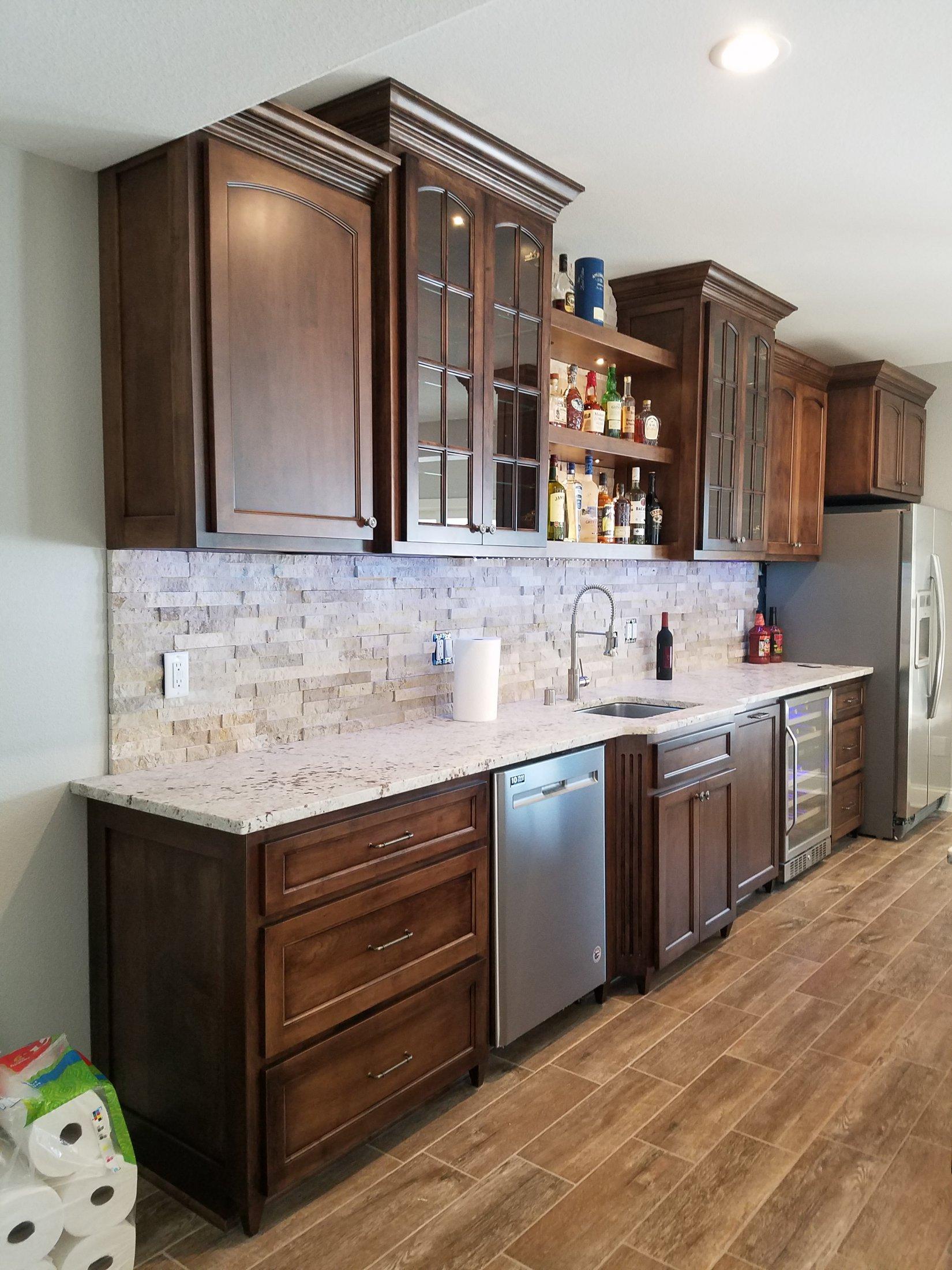 Maple Bar Cabinets
