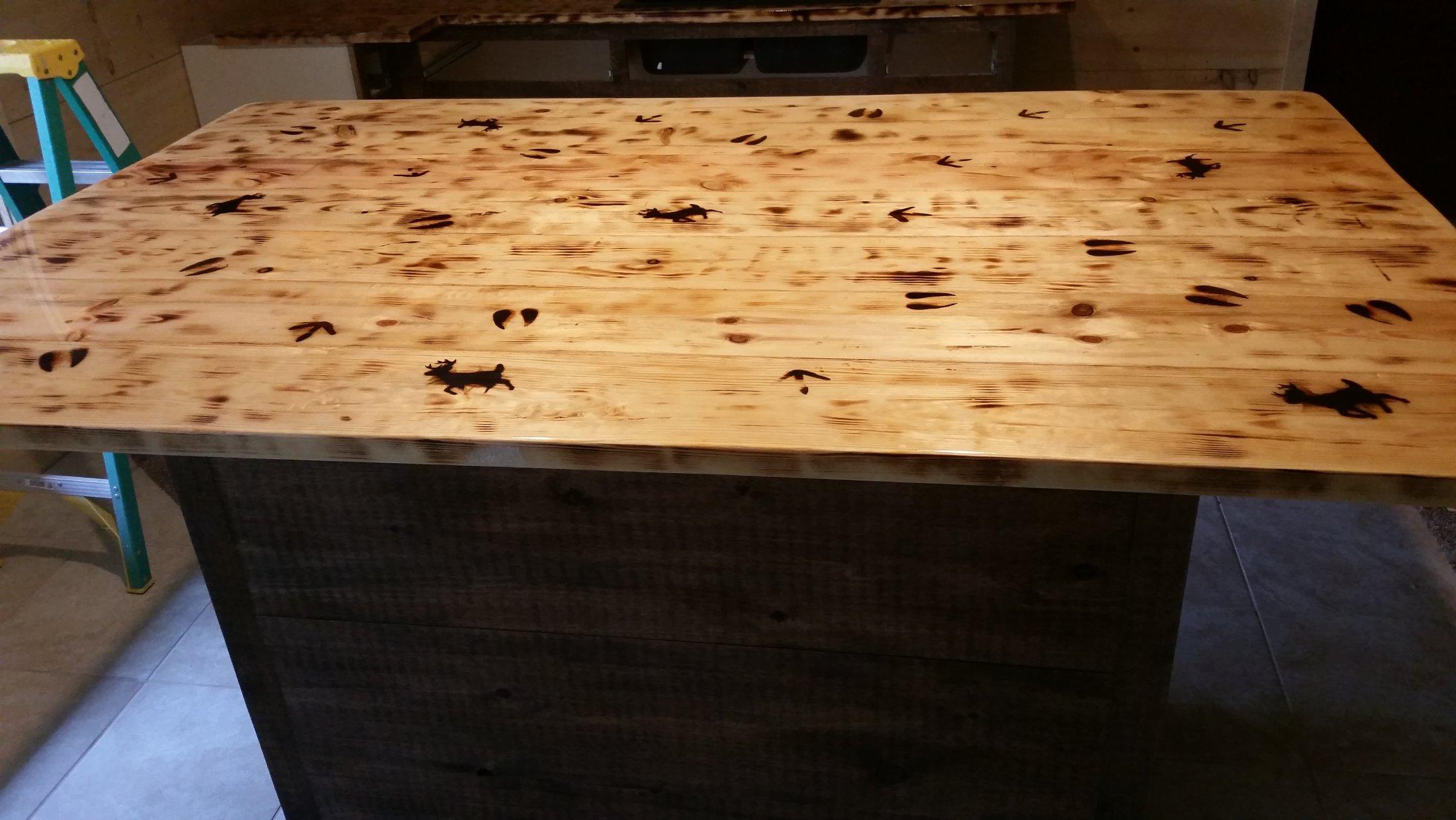 Rustic Reclaimed Wood Top-Branded