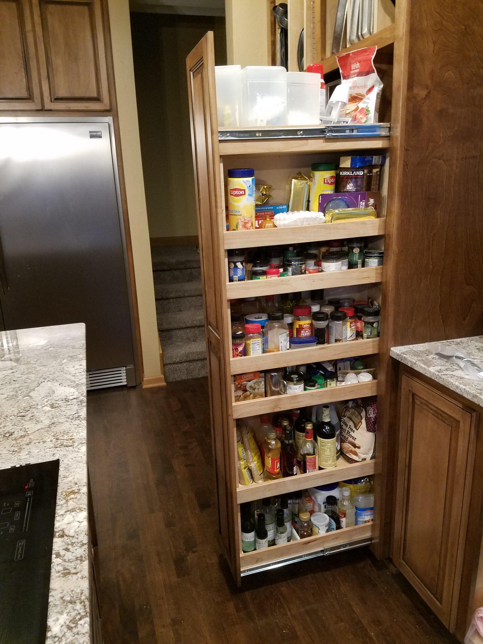 Custom Built Spice Cabinet