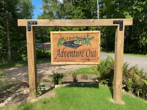Custom Designed, Carved, & Painted 2ft x 4ft Outdoor Sign