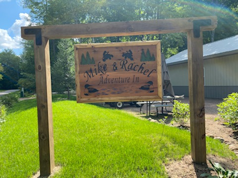 Custom Designed, Carved and Painted Cedar 2ft x 4ft Outdoor Sign