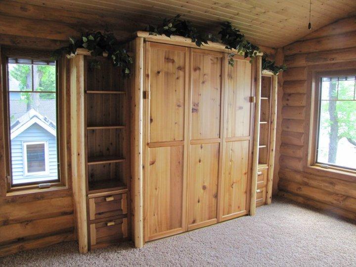 Log Murphy Bed