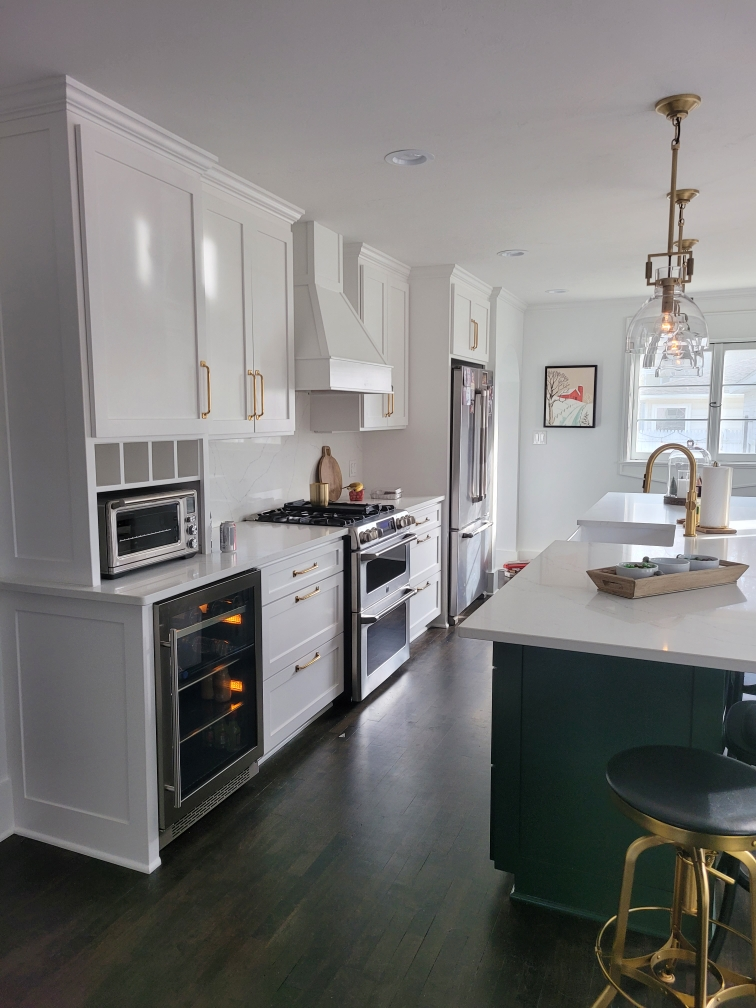 Mission Style- Custom Built and Designed- Painted Cabinets