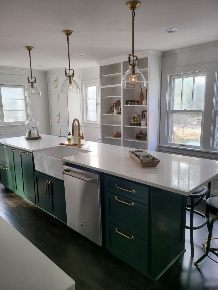 Mission Style- Custom Designed and Built- Painted Cabinets