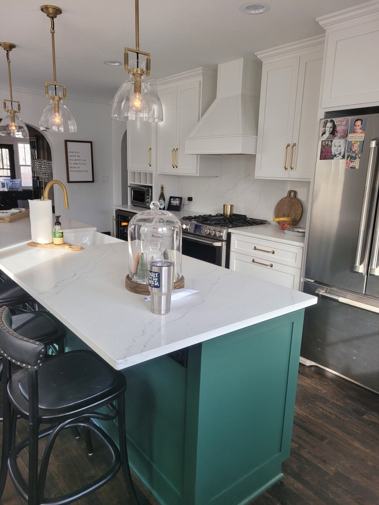 Mission Style- Custom Design and Built- Painted Cabinets
