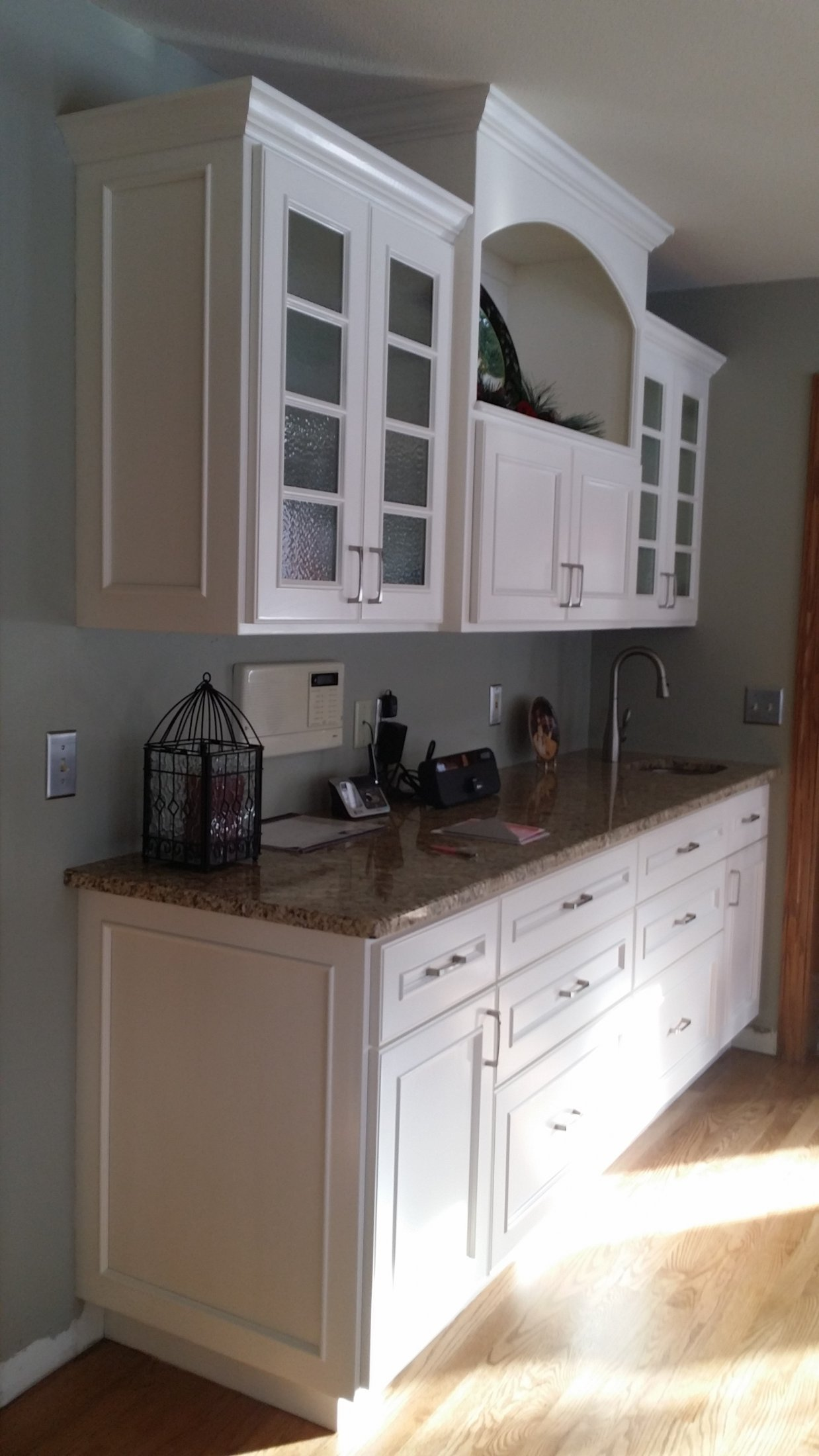 Painted Maple Dining Room Wet Bar