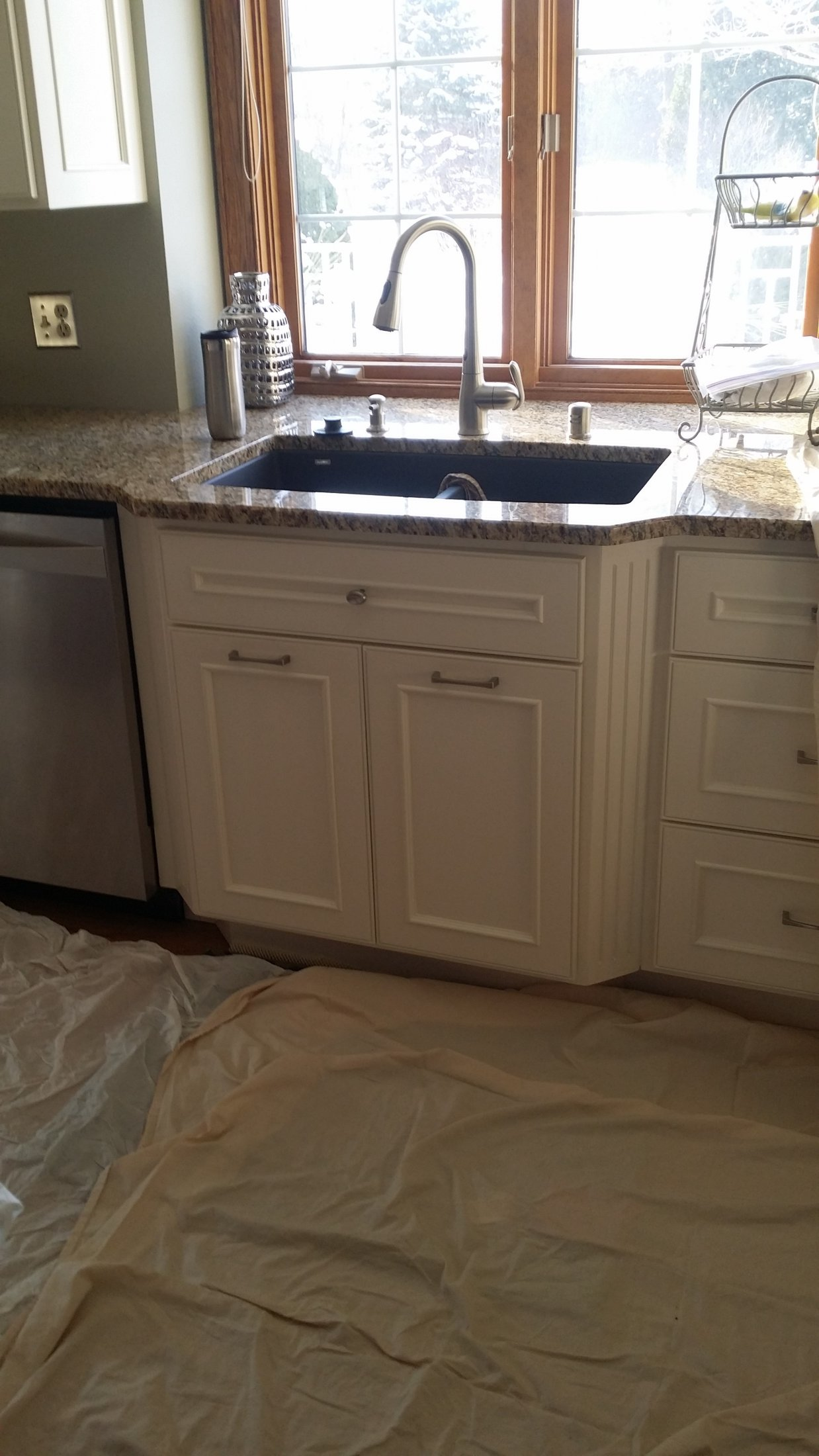 Painted Maple Cabinet