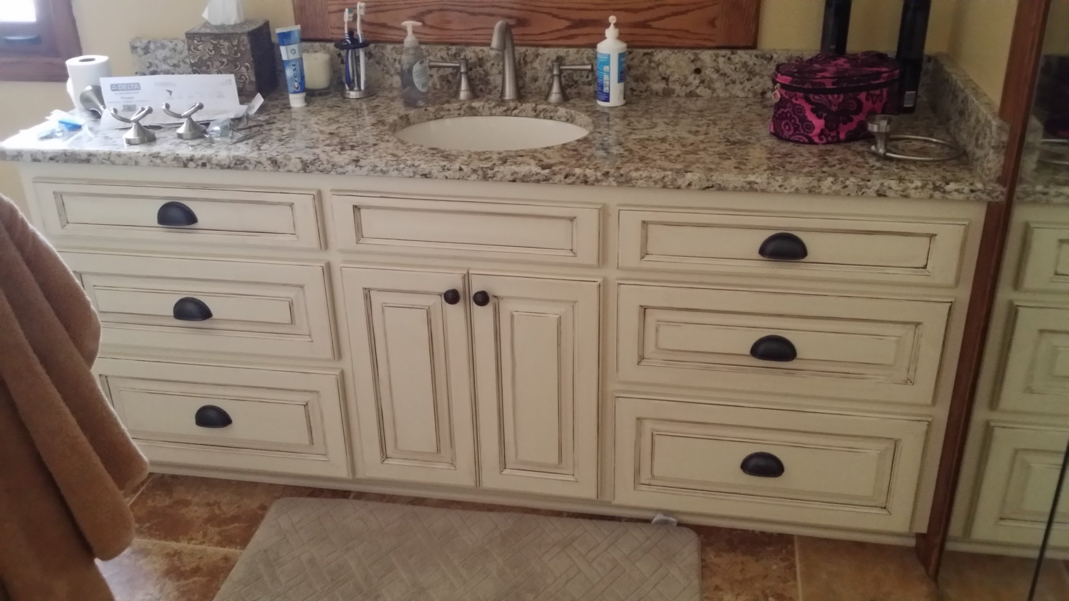 Painted Maple Cabinet with Glazing