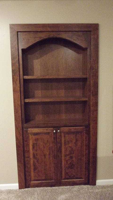 Unique Cherry Door/Bookshelf Cabinet