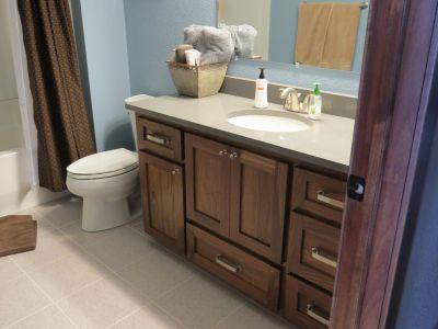 Stained Walnut Bathroom Vanity