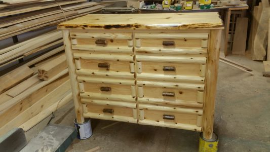 8 Drawer Custom Made Log Dresser