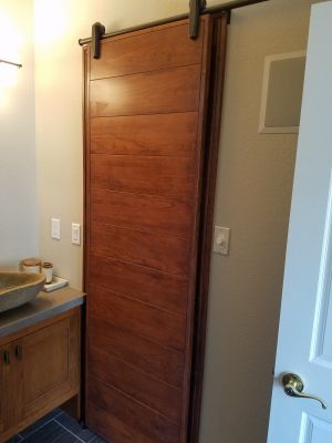 Custom Built Cherry Barn Door
