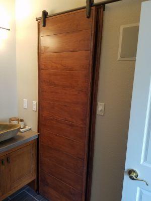 Custom Built Cherry Barn Door