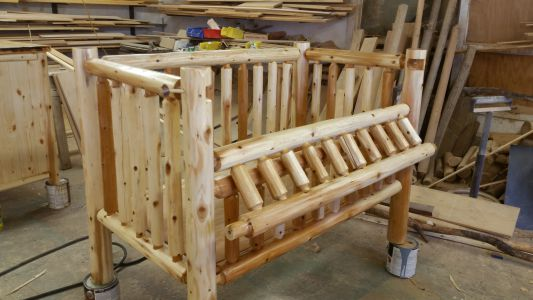 Custom made Log Crib