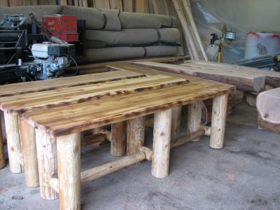 Custom Made Cedar Benches