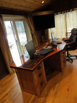 Rustic Knotty Alder Desk