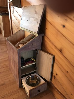Rustic Barn Wood Pet Food Storage & Feeder