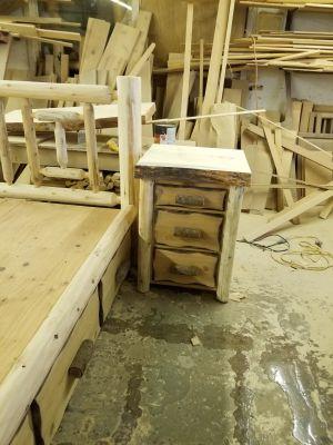Custom White Cedar Nightstand