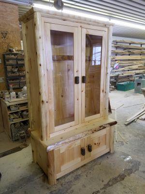 Custom, Rustic Pine Gun Cabinet