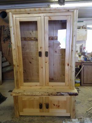 Custom, Rustic Gun Cabinet