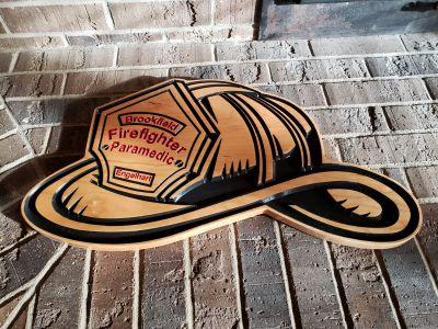 Custom Cherry Fire Helmet