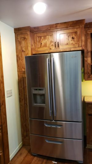 Knotty Alder Custom Built Cabinets