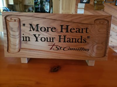 Custom Designed Oak Wood Carving